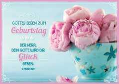 """Postkartenserie """"Gottes Segen zum Geburtstag"""" - 12 Stück"""