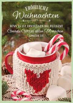 """Postkartenserie """"Fröhliche Weihnachten"""" - 12 Stück"""