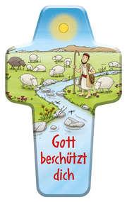 """Kinderkreuz """"Gott beschützt dich"""""""