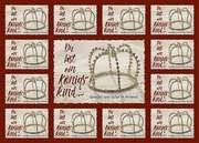 Aufkleber-Gruß-Karten: Du bist ein Königskind, 4 Stück