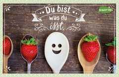 Kräuter-Dip-Postkarte - Du bist was du isst.
