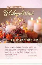 Postkarten Weihnachten: Kerzen, 6 Stück