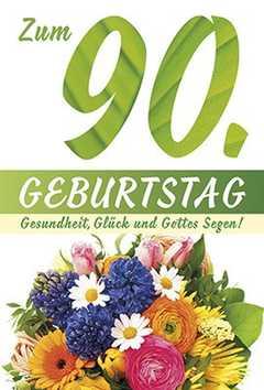 Faltkarte: Zum 90. Geburtstag