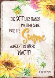 "Postkartenserie ""Sonne / Sonnenblumen"" - 12 Stück"