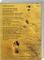 Memo Block A7: Spuren im Sand