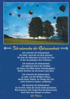 Elli Michler - M. Kitz - Postkarten: Ich wünsche dir Gelassenheit, 12 ...