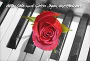 Faltkarte: Alles Liebe und Gottes Segen - Hochzeit