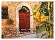 Es kann dir jemand die Tür öffnen - Postkarte