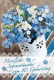 Faltkarte: Herzliche Segenswünsche 80. Geburtstag