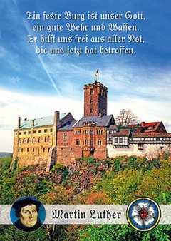 Postkarten: Ein feste Burg, 4 Stück