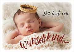Postkarten: Du bist ein Wunschkind, 4 Stück