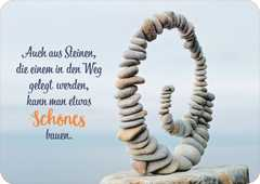 Postkarte - Auch aus Steinen