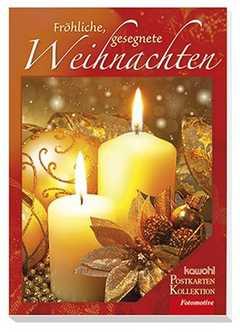 Postkartenbuch: Fröhliche, gesegnete Weihnachten